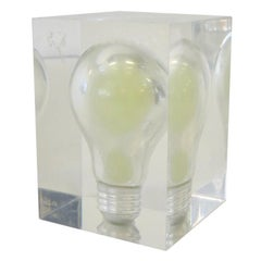 Glow in the Dark Light Bulb in Lucite