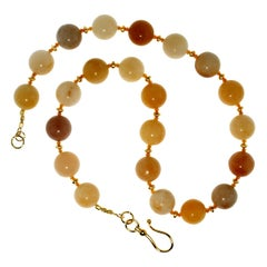 Gemjunky Glowing Golden Jade Multi Shade Necklace