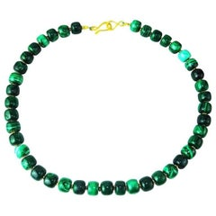 Glowing Highly Polished Green Malachite Necklace