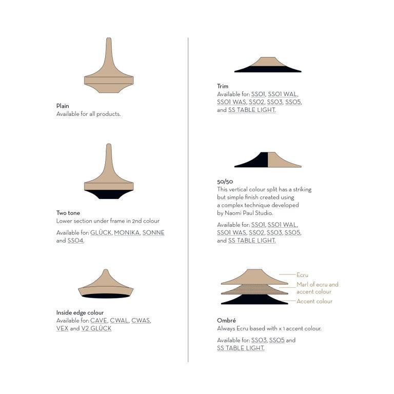 Brass Glück Ø60 Pendant Light, Hand Crocheted in 100% Mercerized Egyptian Cotton For Sale