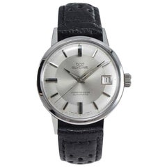 Glycine Stainless Steel Date Automatic Watch, circa 1950s