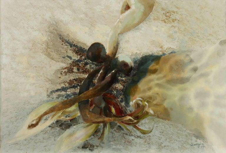 Glyn Morgan (1926-2015) - Signed 1970 Welsh Oil, The Pool of The Nereids III - Painting by Glyn Morgan