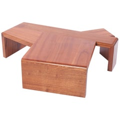 MAHOGANY Glyph Side or Coffee Table in solid mahogany by Taidgh O'Neill