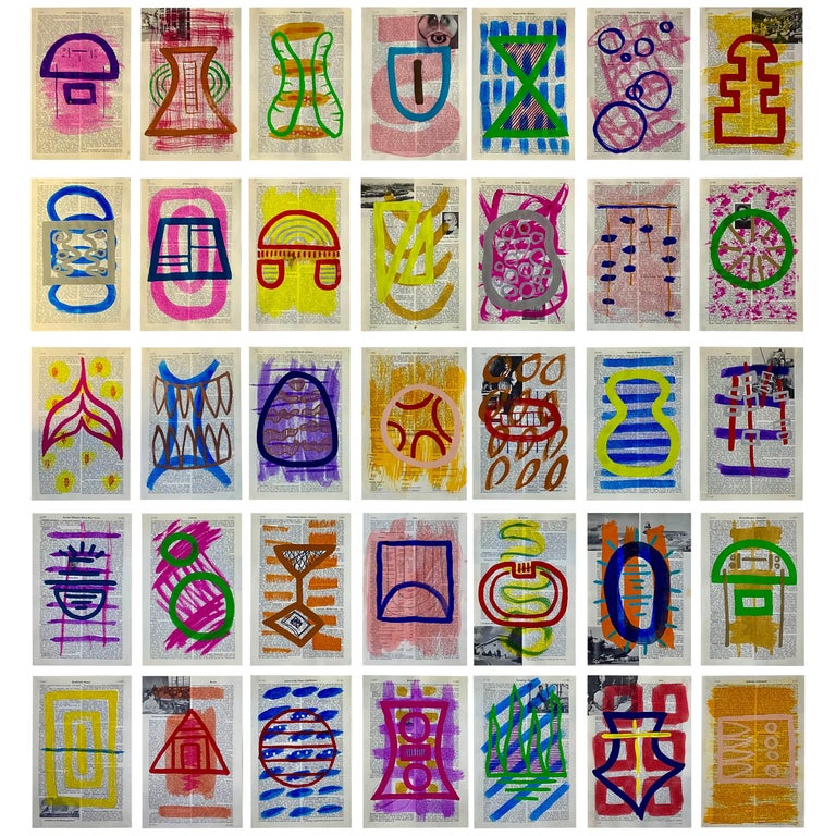 GLYPHS on Encyclopedia Pages, Part 2 by Cheryl R. Riley For Sale