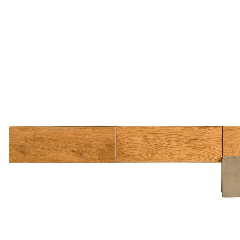 Italian GM2 Oak Sideboard by Giacomo Moor For Sale