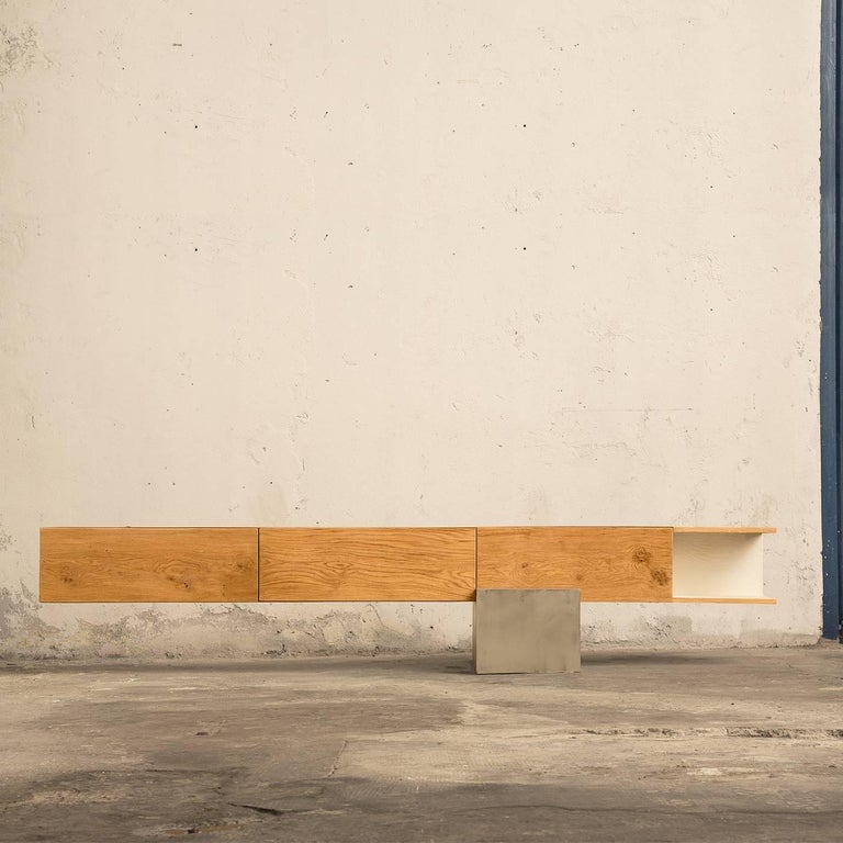 GM2 Oak Sideboard by Giacomo Moor In New Condition For Sale In Milan, IT