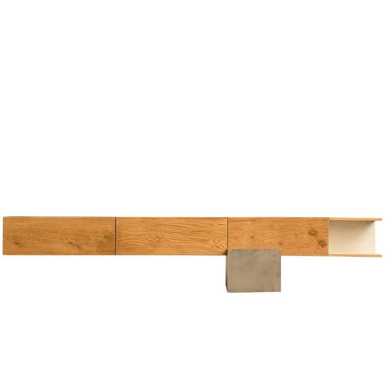 GM2 Oak Sideboard by Giacomo Moor For Sale