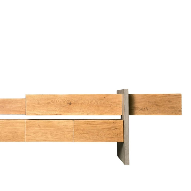 Italian GM5 Oak Sideboard by Giacomo Moor For Sale