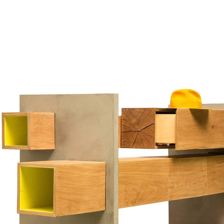 GM5 Oak Sideboard by Giacomo Moor In New Condition For Sale In Milan, IT