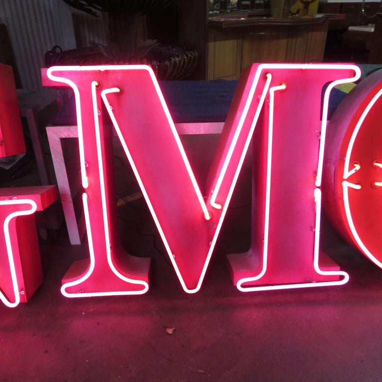 American GMC Automobiles Dealership Neon Sign For Sale