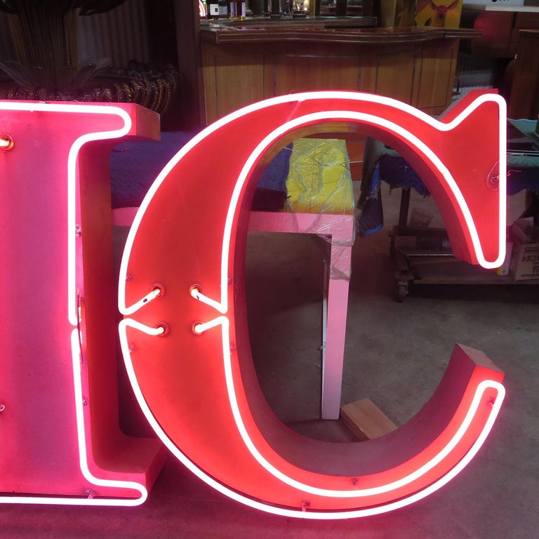 Painted GMC Automobiles Dealership Neon Sign For Sale