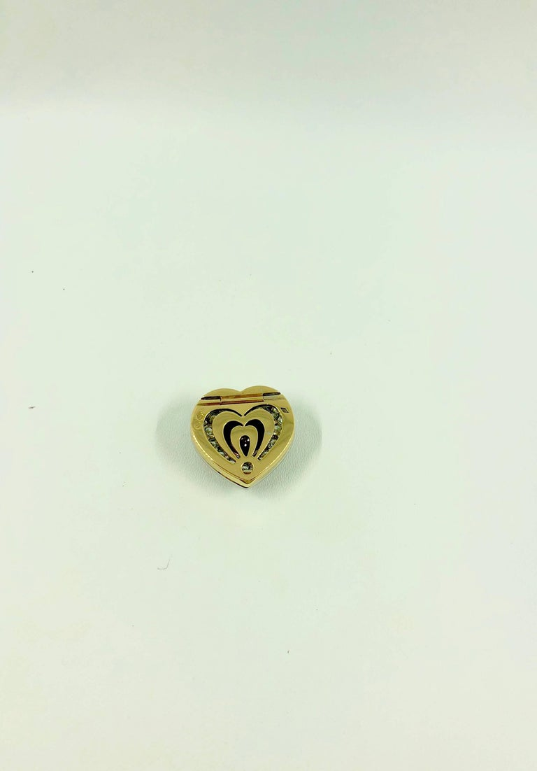 G.Minner Burma Ruby Diamonds Gold Heart Pendant For Sale 3