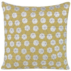 Goaround Pillow in Yellow and White by CuratedKravet