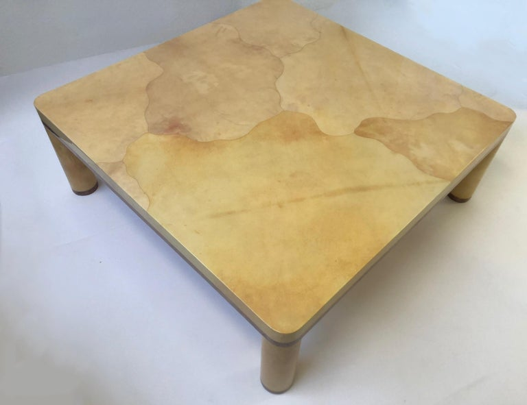 Goatskin Cocktail Table in the style of Karl Springer For Sale 2