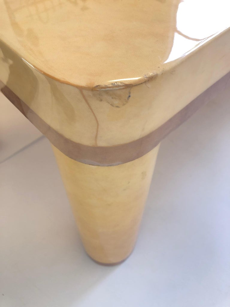 Goatskin Cocktail Table in the style of Karl Springer For Sale 4