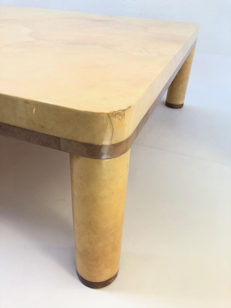 Goatskin Cocktail Table in the style of Karl Springer For Sale 5