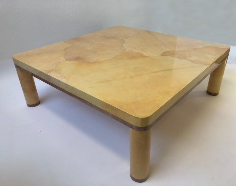 Goatskin Cocktail Table in the style of Karl Springer For Sale 7