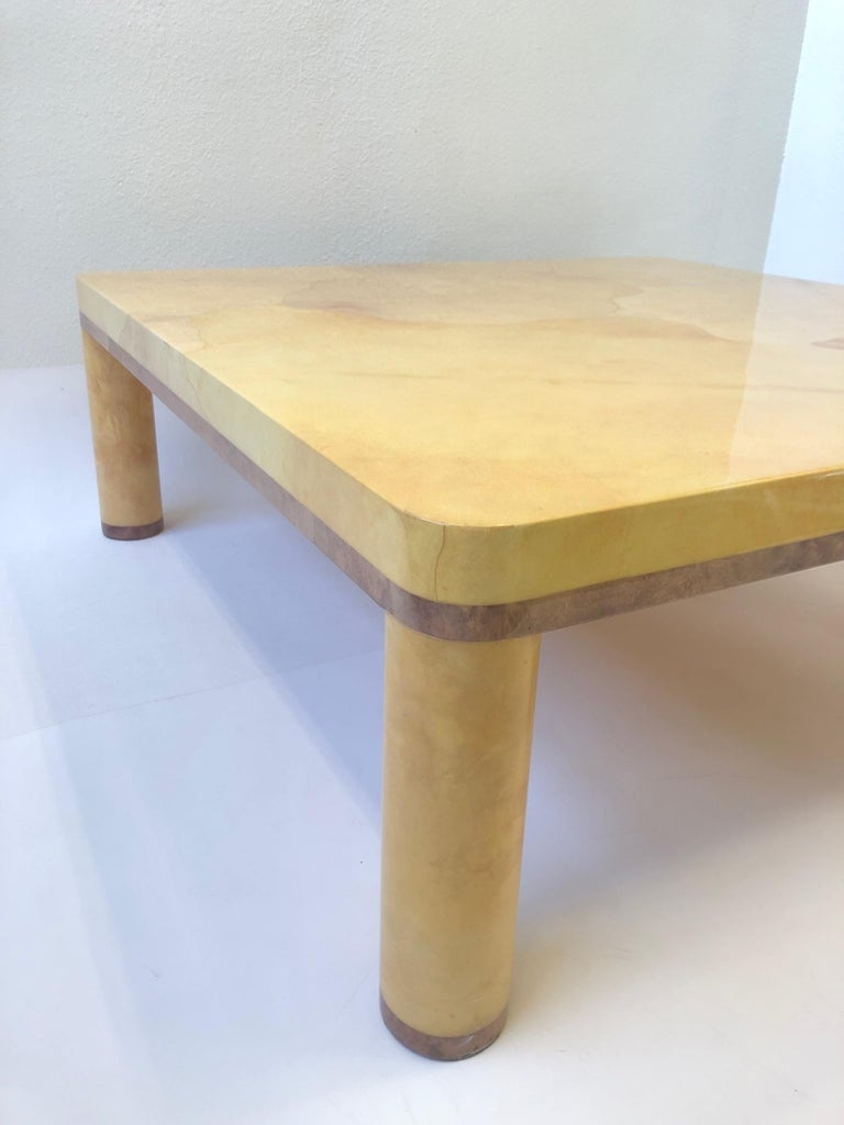 Late 20th Century Goatskin Cocktail Table in the style of Karl Springer For Sale
