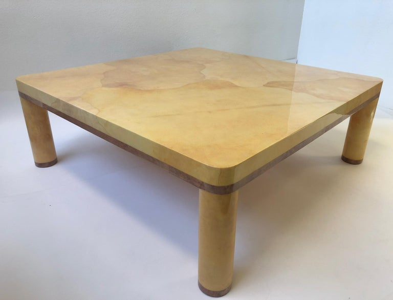 Goatskin Cocktail Table in the style of Karl Springer For Sale 1
