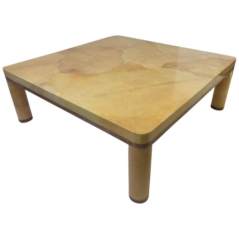 Goatskin Cocktail Table in the style of Karl Springer For Sale