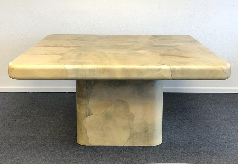 Modern Goatskin Dining Table by Karl Springer For Sale