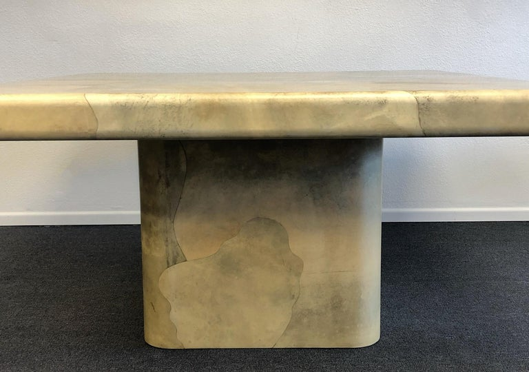 American Goatskin Dining Table by Karl Springer For Sale