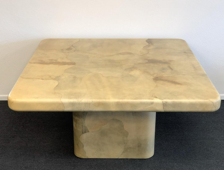 Goatskin Dining Table by Karl Springer In Excellent Condition For Sale In Palm Springs, CA
