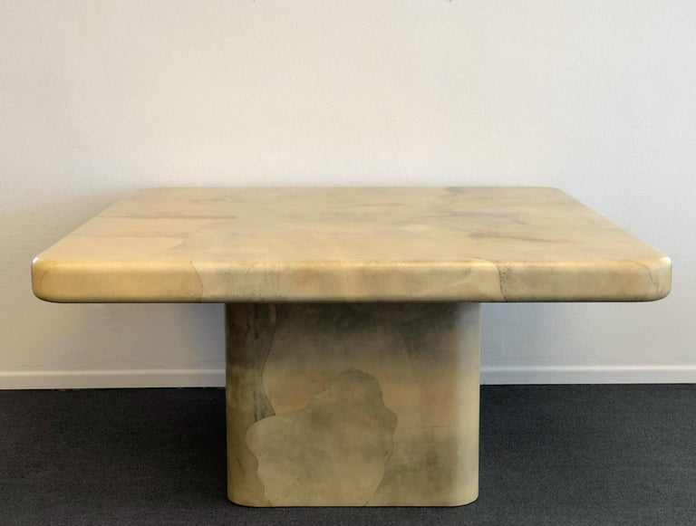 Late 20th Century Goatskin Dining Table by Karl Springer For Sale