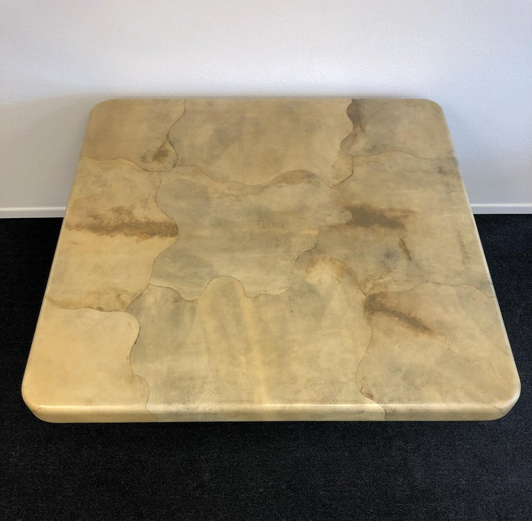 Goatskin Dining Table by Karl Springer For Sale 1