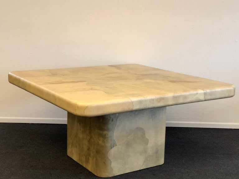 Goatskin Dining Table by Karl Springer For Sale 2