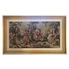 Gobelin French Style Custom Gilt Framed Tapestry