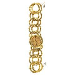 Goblin Diamond Time Gold Watch Link Bracelet