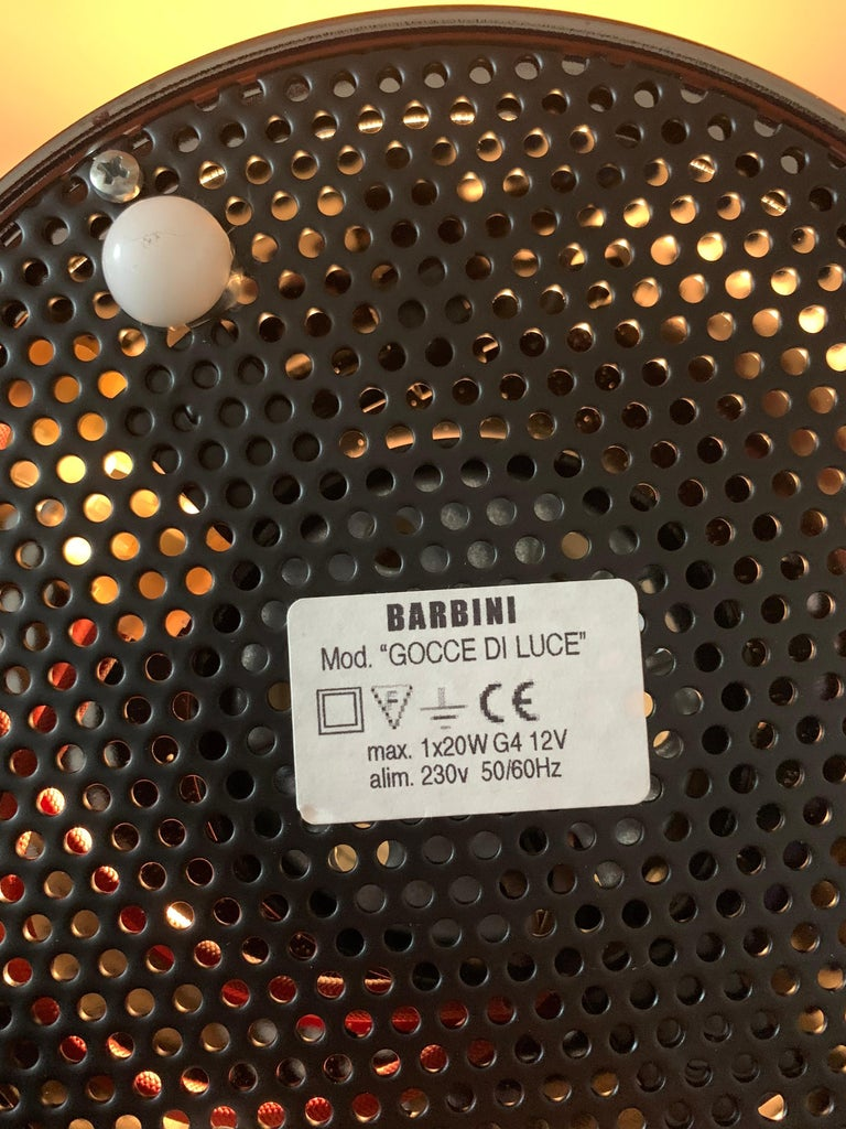 Gocce di Luce model sculpture lamp by Alfredo Barbini, Murano Glass, Italy For Sale 4