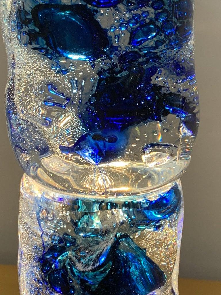Late 20th Century Gocce di Luce model sculpture lamp by Alfredo Barbini, Murano Glass, Italy For Sale