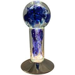 Gocce di Luce Model Sculpture Lamp by Alfredo Barbini, Murano Glass, Italy