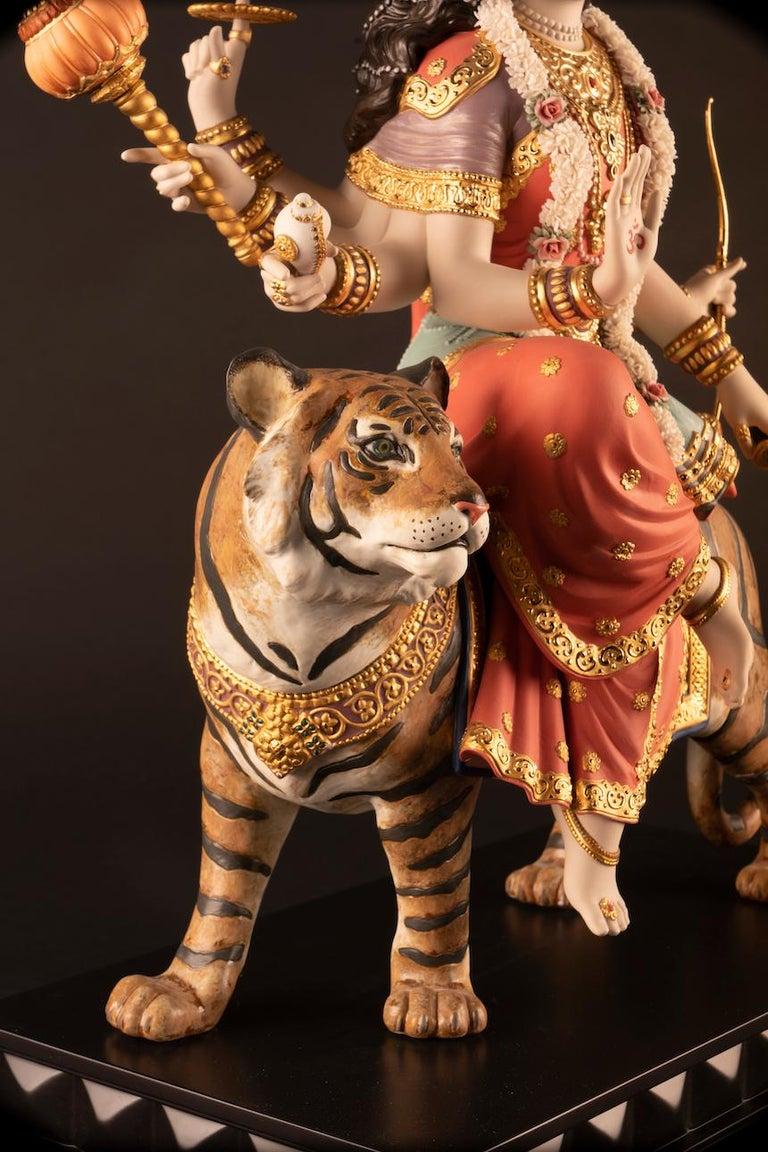 Contemporary Goddess Durga Sculpture For Sale