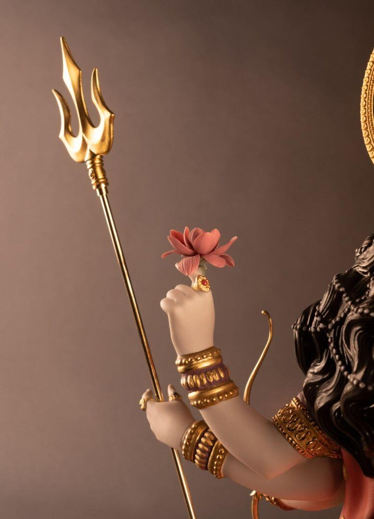 Contemporary Goddess Durga Sculpture. Limited Edition  For Sale