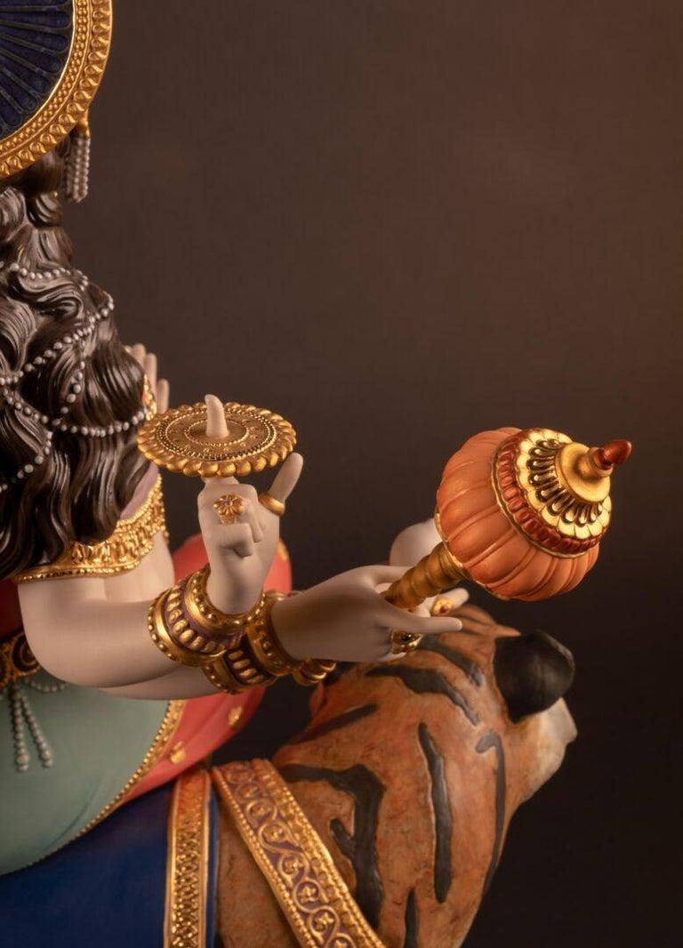 Porcelain Goddess Durga Sculpture. Limited Edition  For Sale