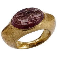 Goddess Fortuna Carnelian Roman Ring, Imperial Era, 1st-2nd Century AD