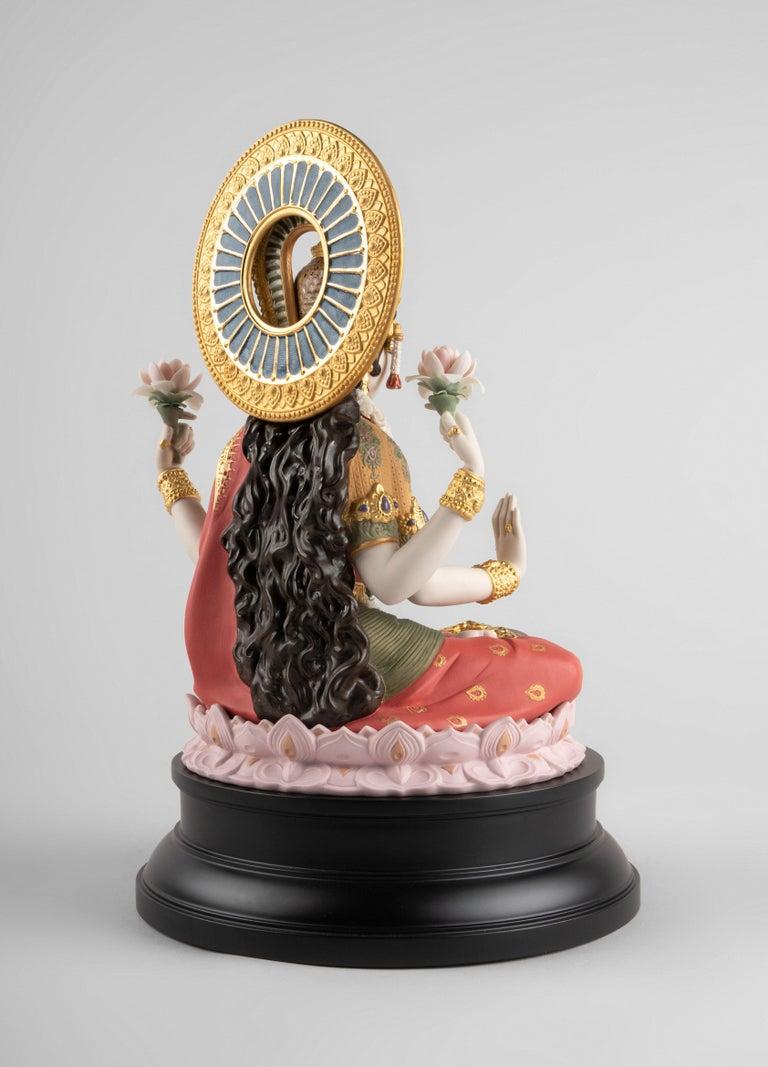 Spanish Goddess Lakshmi Sculpture, Limited Edition For Sale