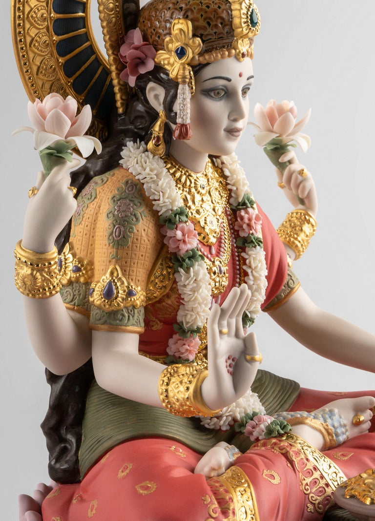 Goddess Lakshmi Sculpture, Limited Edition In New Condition For Sale In Cranbury, NJ