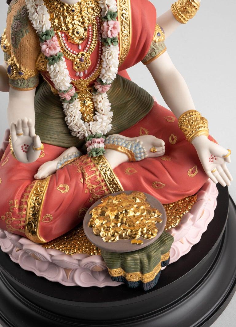 Contemporary Goddess Lakshmi Sculpture, Limited Edition For Sale
