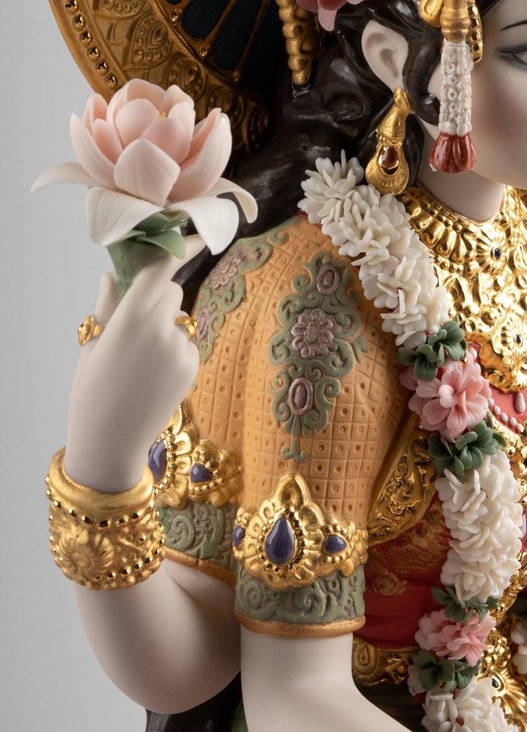 Porcelain Goddess Lakshmi Sculpture, Limited Edition For Sale