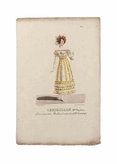 Grands Théâtres de Paris - Cendrillon - Original Lithograph - 19th century