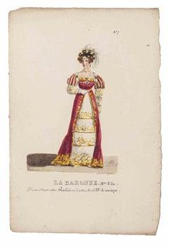 Grands Théâtres de Paris - La Baronne - Original Lithograph - 19th century