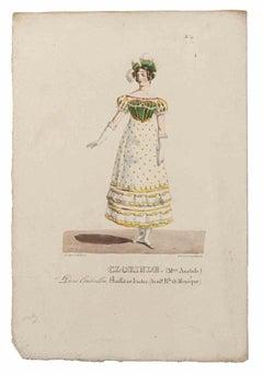 Grands Théâtres de Paris - Oliveris - Original Lithograph - 19th century