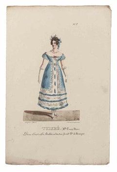 Grands Théâtres de Paris - Thisbe - Original Lithograph - 19th century