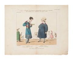 Théâtre des Variétés - Original Etching on Paper - 1820