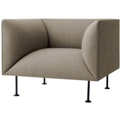 Godot Sofa, 1-Seat, Sandy Brown Textile Scandinavian Design and Furniture