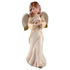 Goebel, West Germany, Large Angel in Porcelain, 1970s-1980s